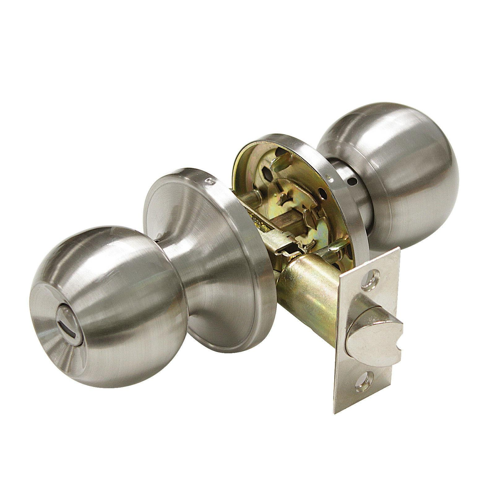 Satin Lever Handle Knobs Lockset
