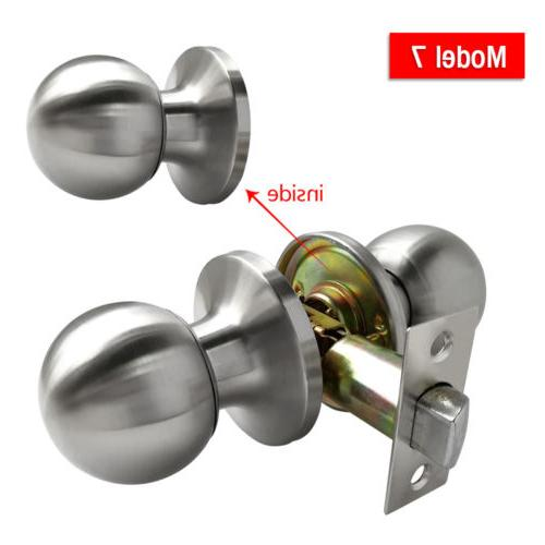 Satin Nickel Entry Lock Set Handle Lever Entrance Passage Dummy