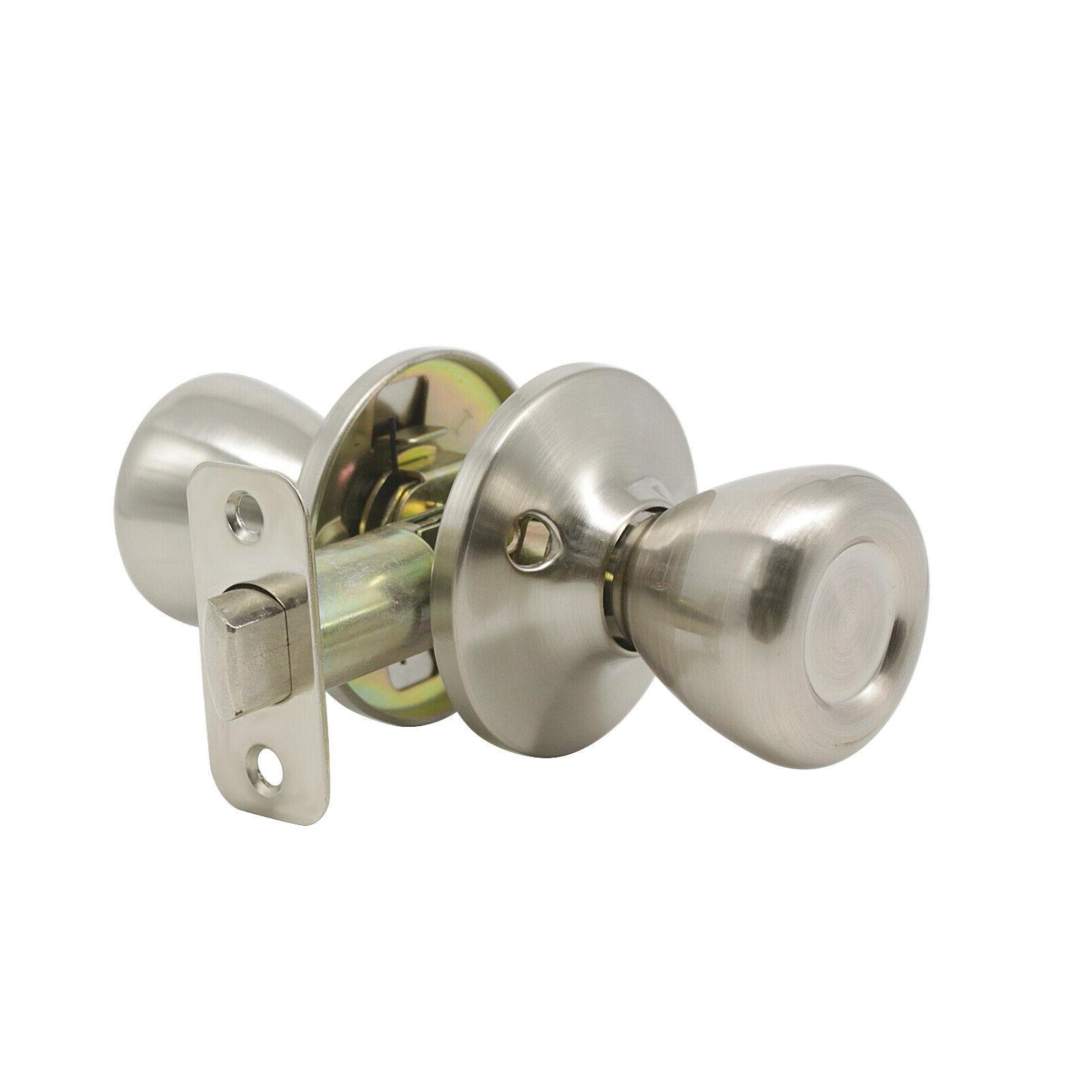 Satin Nickel Privacy Levers Interior Passage Entry
