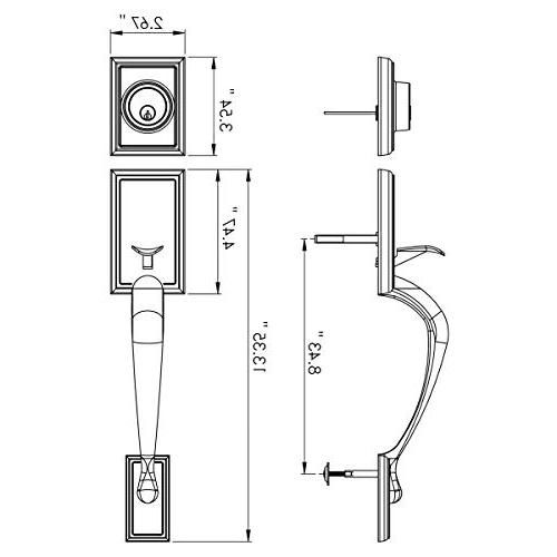 Single HandleSet/Lever Handle Door Reversible Right/Left Handed and a Single deadbolt Handle