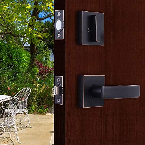 Single Cylinder Door Handle Entrance/Front Reversible Right/Left and deadbolt Handle