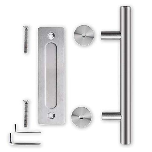 Stainless Barn Handle Set| inch Round Solid 304 Stainless Gate Handle Door Gates Garages