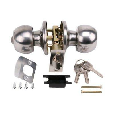 Stainless Round Handle Knobs Entrance Lock With Set