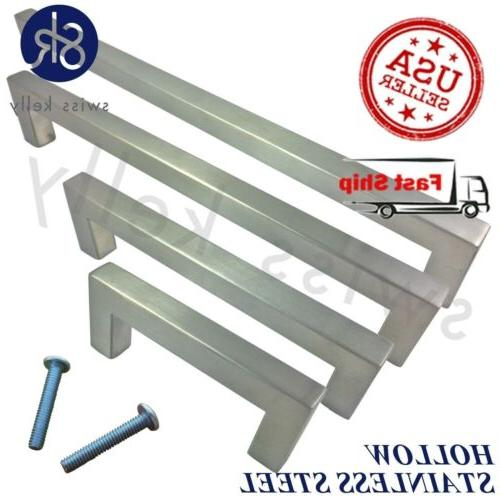stainless steel kitchen cabinet square pull bathroom