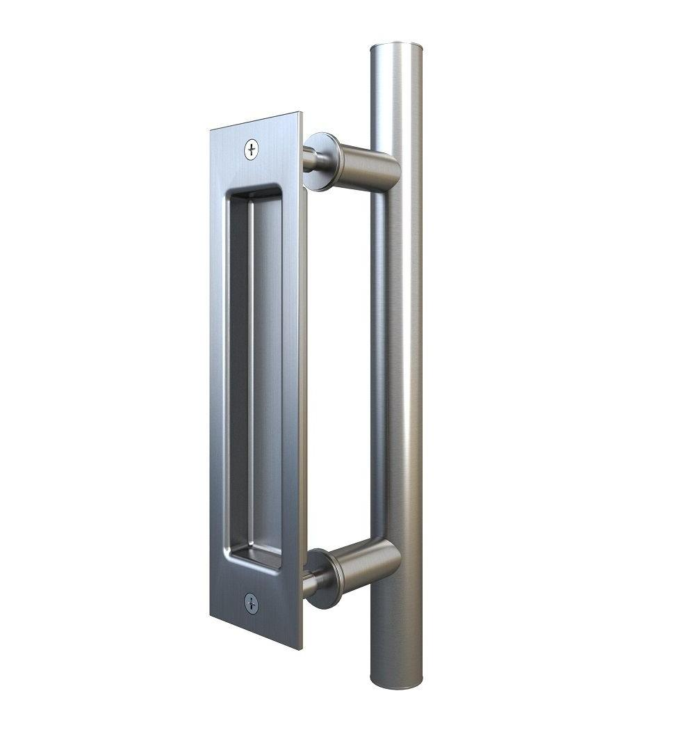 stainless steel pull and flush handle set