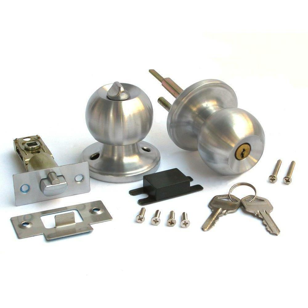 stainless steel round door knobs handle entrance