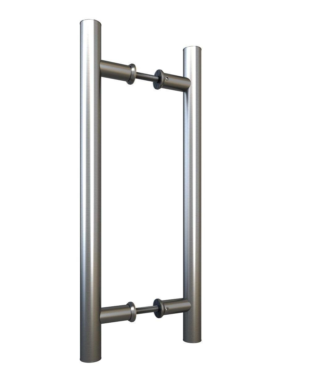 Stainless Steel Sliding Barn Door Pull Handle Set Double Sid