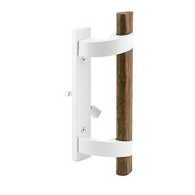 white sliding glass door handle with mortise
