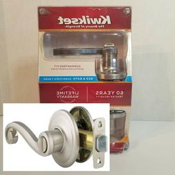 Kwikset Lever Privacy Signature Series Lido Satin Nickel Det