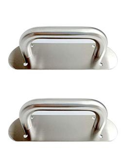 VRSS 2Pcs 200mm Long Stainless Steel Pull Door Handle Plate