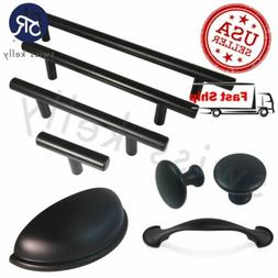 Matte Black Cabinet Pull Door Handle Steel Kitchen Hardware