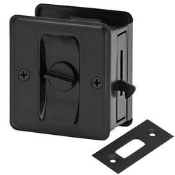 Matte Black Pocket Sliding Door Privacy Handle Lock Pull Har
