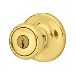 Kwikset Mobile Home Entry Knob in Polished Brass