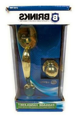 NEW Brinks Passage Handleset Polished Brass Door handle Non-