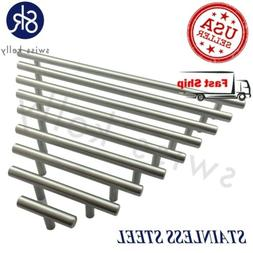 New Solid Stainless Steel T Bar Pull Handle Cabinet Door Kit