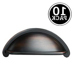 Oil Rubbed Bronze Kitchen Cabinet Pulls - 3 Inch Bin Cup Dra