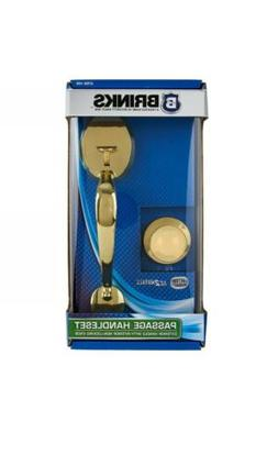 Brinks Passage Handleset Polished Brass Door handle Non-Lock