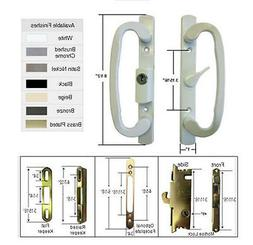 Patio Door Handle Kit with Mortise Lock and Keepers, A-Posit
