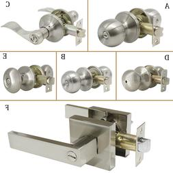 Privacy Passage Door Knobs Brushed Nickel Interior Door Leve