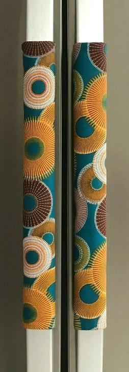 Refrigerator Oven Door Padded Handle Covers Colored Burst Se