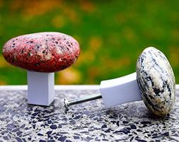 Rock knobs and pulls. Beach Stone Kitchen Cabinet handle. Do