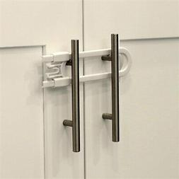 Child Safety Sliding Cabinet Locks  - Baby Proof Knobs, Hand