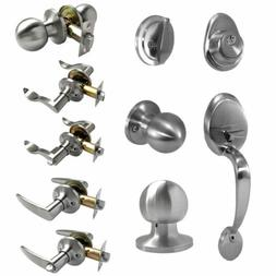 Satin Nickel Entry Door Lock Set Handle Lever Entrance Priva