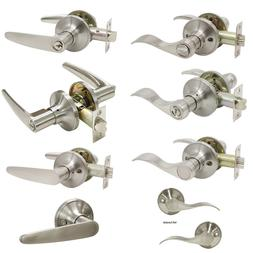 Brushed Nickel Door Knob Interior Door Knob Handle Key Priva