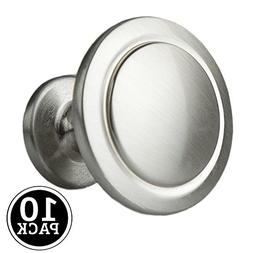 Satin Nickel Kitchen Cabinet Knobs - 1 1/4 Inch Round Drawer