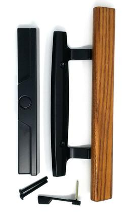 Sliding Glass Door Wooden Handle Set for Mortise Locking Sys