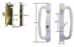 Sliding Glass Patio Door Handle Set with Mortise Lock, White
