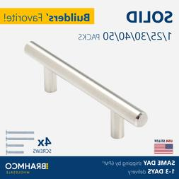 SOLID Stainless Steel T bar Kitchen Cabinet Door Handles Dra