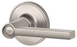 Schlage J-Series  Solstice Lever Bed and Bath Lock in Satin