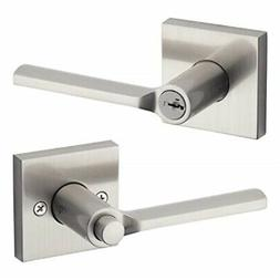 Kwikset 91560-022 Lisbon Square Keyed Entry Lever Featuring