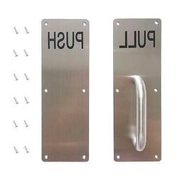 Aimyoo Stainess Steel Door Handle, Pull and Push Plate Comme