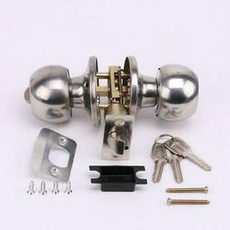 Stainless Rotation Round Door Handle Knobs Entrance Passage