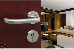 stainless steel 304 polished lever door handle