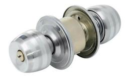 Stainless Steel Round Door Knobs Handle Entrance Passage Loc