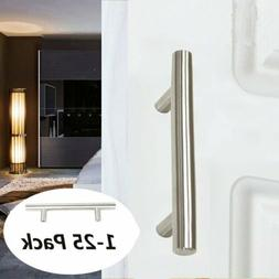 Stainless Steel T bar Kitchen Cabinet Door Handles Drawer Pu