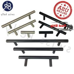 Steel Kitchen Cabinet Handle Door Bar Pull Drawer T Pulls So