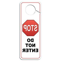 Graphics and More Stop Sign Do Not Enter Plastic Door Knob H