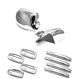 eRushAutoparts Ultra Chrome Mirror+4 Door Handle+Plates Cove