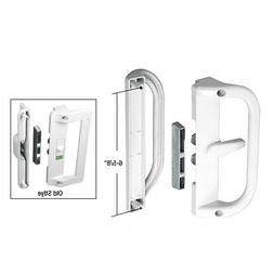 White Surface Mounted Hook Style Sliding Glass Door Handle 6